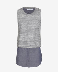 10 Crosby Derek Lam EXCLUSIVE 2 in 1 Combo Sleeveless Top