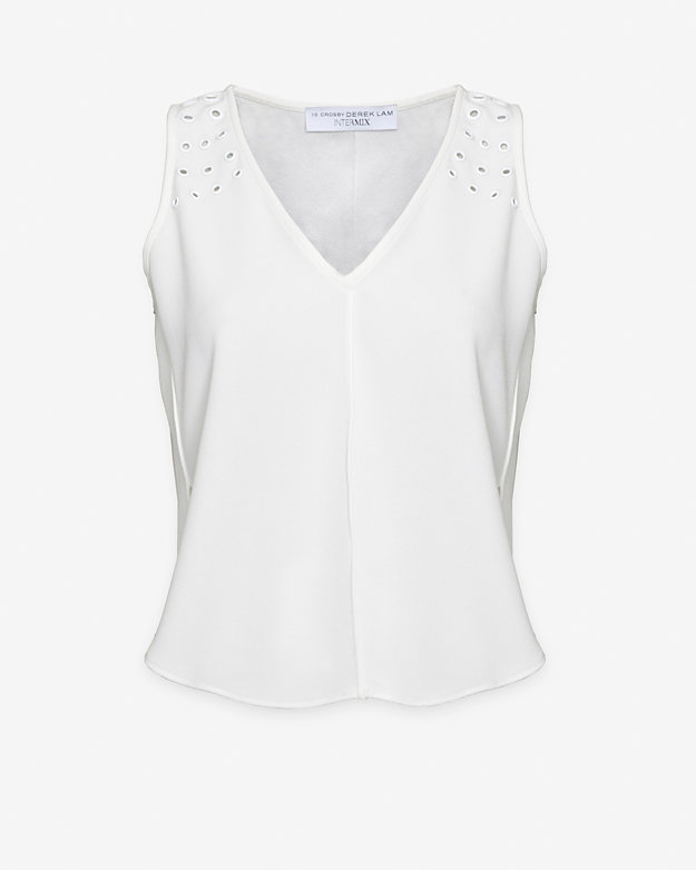 10 Crosby Derek Lam EXCLUSIVE Sleeveless Grommet Top