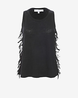 Derek Lam 10 Crosby EXCLUSIVE Fringe Racer Back Tank