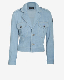 Laveer Cropped Denim Jacket