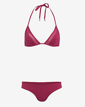 Ephemera Mesh Detail Triangle Bikini- FINAL SALE