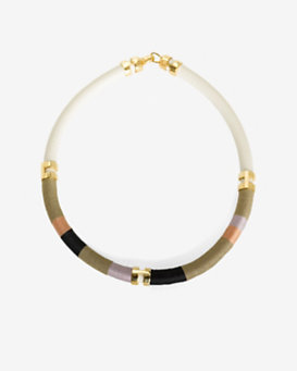 Lizzie Fortunato Double Take Necklace: Nude Metallic