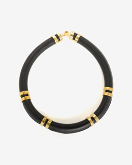 Lizzie Fortunato Double Take Necklace: Black