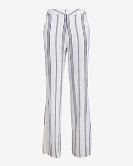 Sea Striped Linen Blend Pants