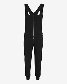 SWEATS by Norma Kamali Zip Front Overall