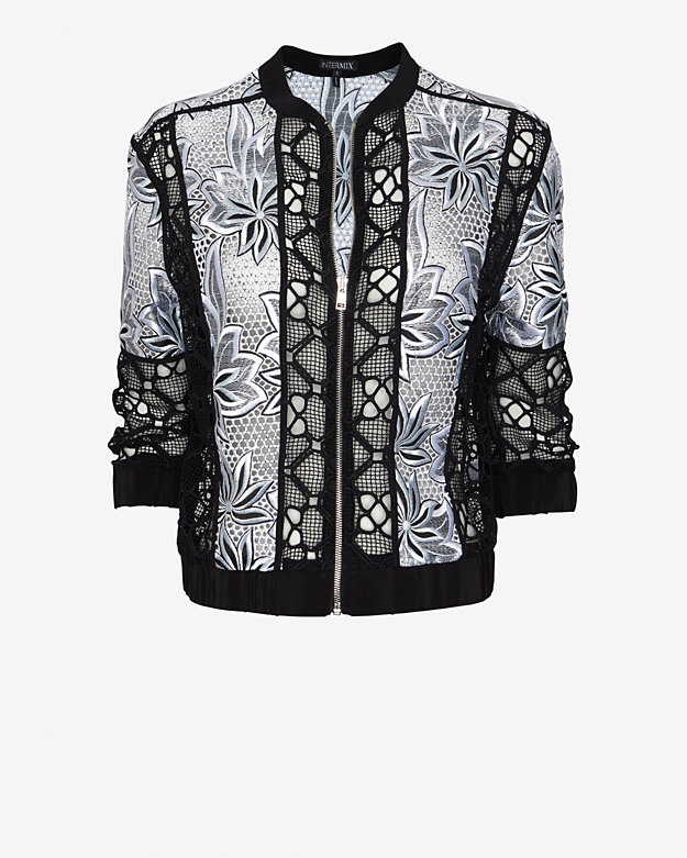 Exclusive for Intermix Jayden Lace Combo Jacket