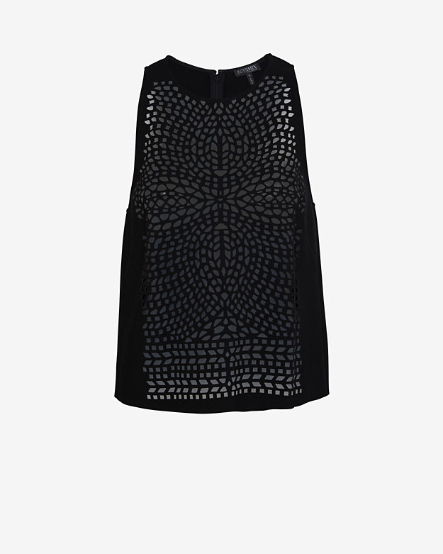Exclusive for Intermix Laser Cut Out Sleeveless Top