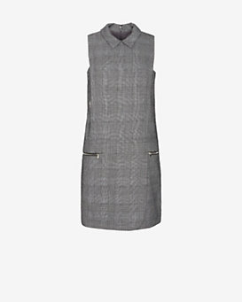 Exclusive for Intermix Houndstooth Pattern Collar Dress