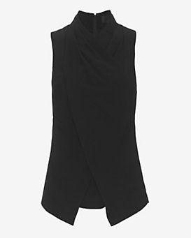 Exclusive for Intermix Stella Crepe Wrap Top