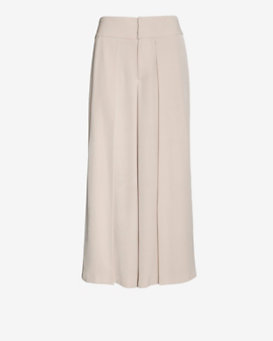 Exclusive For Intermix Cropped Wide Leg Crepe Pant: Blush