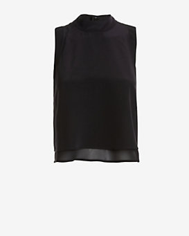 Exclusive for Intermix Mock Neck Chiffon Blouse