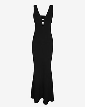 Exclusive for Intermix Blair Deep V Gown