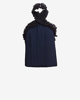 Exclusive for Intermix Ruffle Chiffon Halter Top