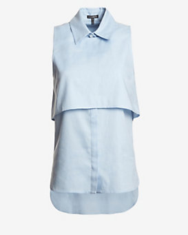 Exclusive for Intermix Dena Chambray Button-Down Top