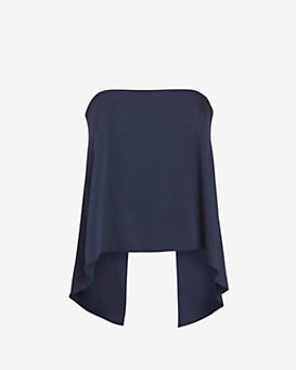 Exclusive for Intermix Wilona Strapless Top: Navy