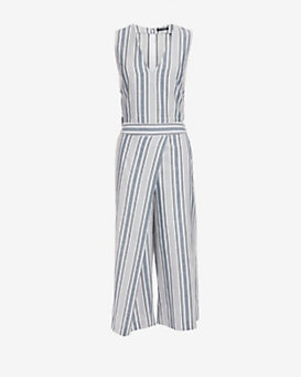 Exclusive for Intermix Gwen Striped Crop Jumper