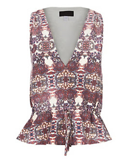 Exclusive for Intermix Valencia Print Drawstring Top