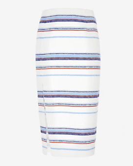 Exclusive for Intermix Audrina Stripe Skirt