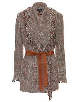 Exclusive for Intermix Joanna Belted Fringe Jacket