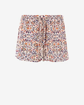 Exclusive for Intermix Floral Tapestry Print Silk Shorts