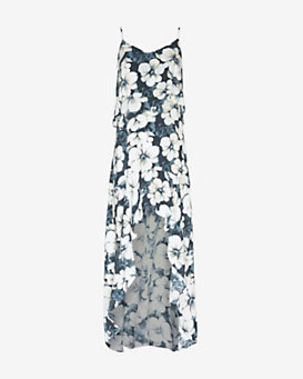 Exclusive for Intermix Floral Print Hi/Lo Dress