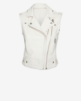 IRO Suga Leather Vest: White