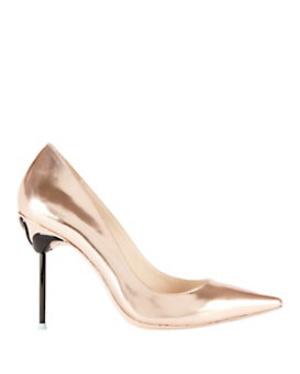 Sophia Webster Flamingo Coco Metallic Leather Pump