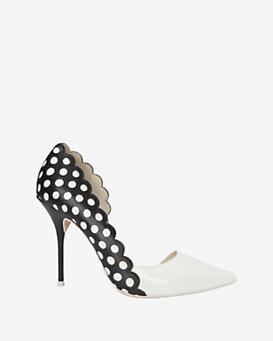 Sophia Webster Mika Scalloped Edge Polka Dot Pump