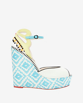 Sophia Webster Lula Pom Detail Wedge