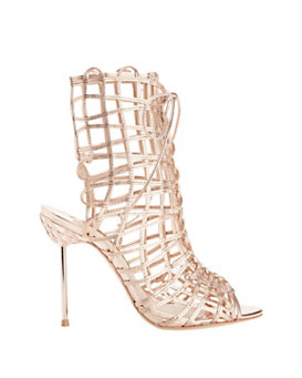 Sophia Webster Delphine Strappy Cage Metallic Sandal