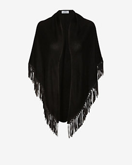 Bajra Leather Fringe Basketweave Scarf