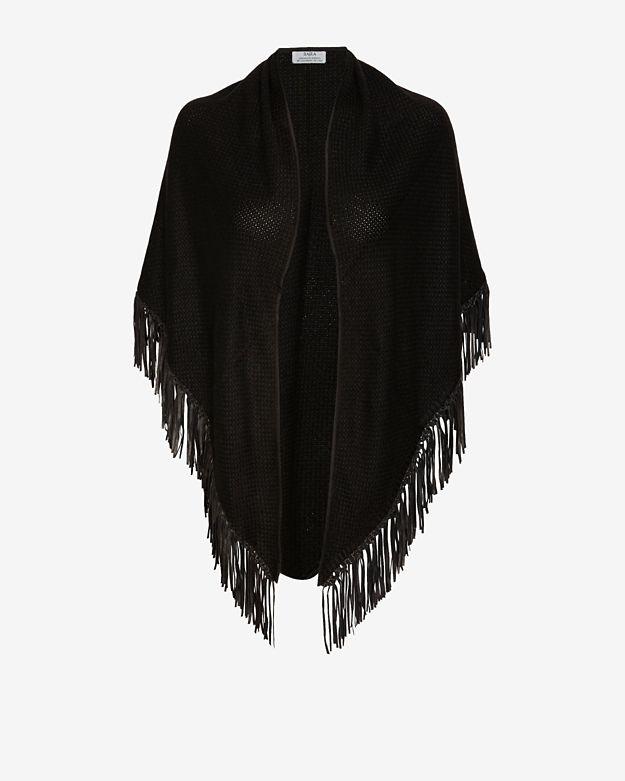 sale          bajra-leather-fringe-basketweave-scarf by bajra
