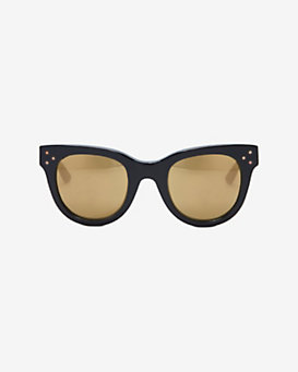Spektre Sunglasses Mirrored Lens Sunglasses: Black
