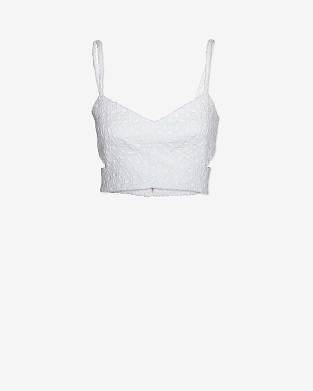 Nicholas EXCLUSIVE Lace Cut Out Bralet: White