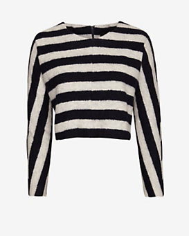 Nicholas EXCLUSIVE Wool Striped Cropped Sweater
