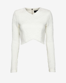 Nicholas EXCLUSIVE Embossed Crop Top