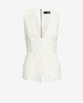 Nicholas EXCLUSIVE Geometric Lace Flare Top