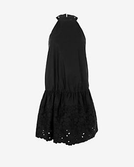 Thakoon Cinched Waist Embroidered Dress