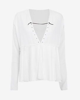 Thakoon Godet Blouse: Off White