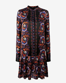 Thakoon Floral Print Blouse Pleat Dress