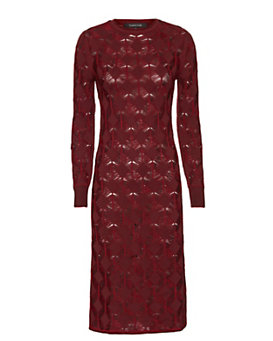Thakoon Crochet Knit Dress: Burgundy