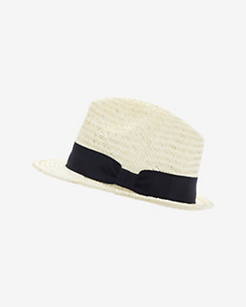 Hat Attack Short Brim Straw Fedora: Cream