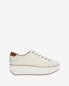 Flamingos Lace-Up Platform Sneaker: White