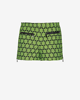 Alexis Terni Zipper Detail Print Shorts