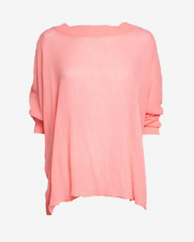Skin Pullover Gauze Shirt: Coral