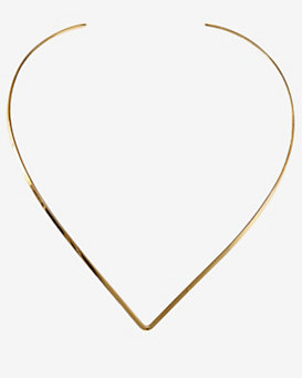 Jennifer Zeuner Diamond Detail Metal V Choker