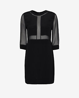 IRO Sheer Inset Shift Dress