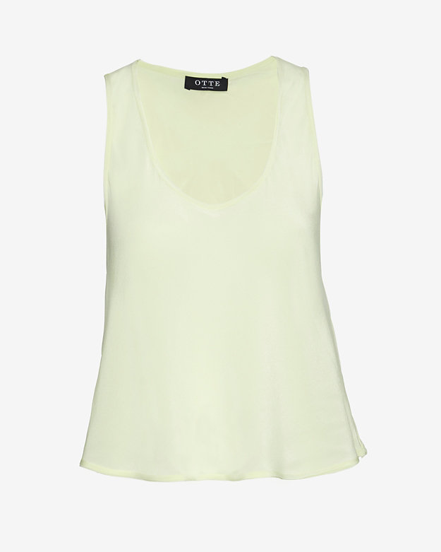 OTTE Sleeveless Crop Tank: Lemon