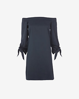Tibi EXCLUSIVE Tie Off The Shoulder Dress