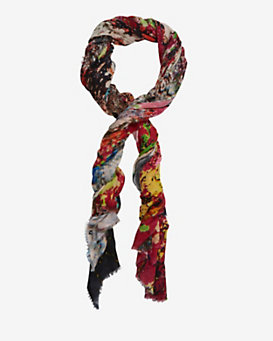 Maison Passage Trash Colored Scarf